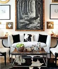 black and white cowhide rug luxury design ideas of living room large
