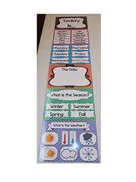 Daycare Organizational Chart Amazon Com 6 Laminated Interactive Circle Time Clip Chart