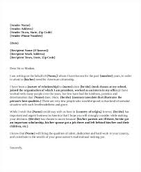 Writing A Reference Letter Template