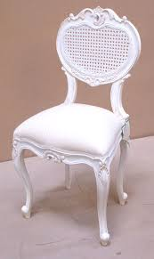 French Chateau White Bedroom Chair White Back - Buy from the French ...