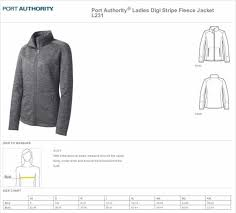 Port Authority Fleece Jacket Size Chart Port Authority Ladies Digi Stripe Fleece Jacket L231 M Grey