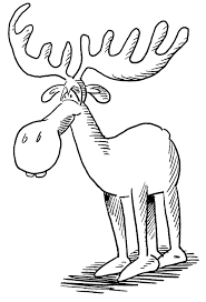 Small Picture Free Moose Coloring Pages Moose Coloring Pages In Animals Coloring