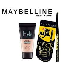 maybelline new york fit me foundation super black kajal makeup kit gm at best