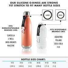 Bottle Size Chart Amazon Com Holrbos Silicone Water Bottle Clip Carrier With