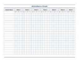 School Attendence Sheet Simple School Attendance Sheet Microsoft Word Template