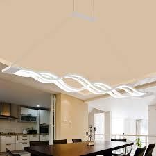 Pendelleuchte Dimmbar Led Esstisch Esszimmerlampe Moderne Kreative Designer Lüster Höhenverstellbar Metall Welle Decken Leuchte Jugendzimmer