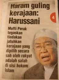 Jabatan mufti negeri perak is a agensi kerajaan based in ipoh, perak. Buletin Rms On Twitter Haram Guling Kerajaan Yang Sah Mufti Perak