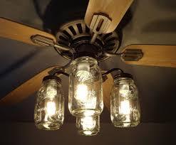 mason jar ceiling fan light kit new quart jars