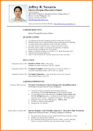 5 Resume Template Philippines Science Official Format Sampl Sevte
