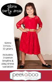 Peek A Boo Patterns Amazing Gloria Party Dress PDF Sewing Pattern