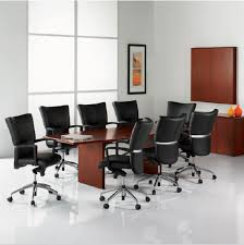 Contemporary boardroom table maple QUEST First fice