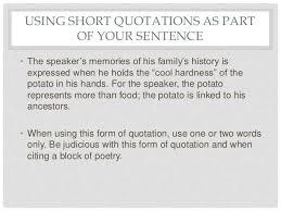 Quotation Poetry Quoting Poetry
