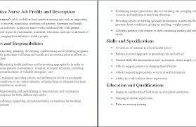 Wound Care Nurse Job Title Home Health Nurse Job Description For Stunning Charge Nurse Job Description For Resume
