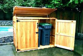 trash container storage shed trash can storage shed outdoor living today trash can storage