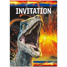 Jurassic Park Invitations Jurassic World Party Supplies