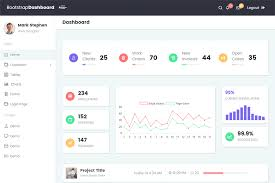 Bootstrap 4 Material Admin Template Free Dashboard W 6 Colour
