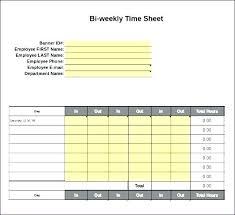 Sample Biweekly Timesheet Custom Weekly Time Card Template Google Docs Employee Sheet Invoice