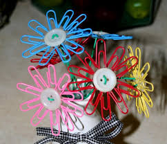 Flower Paper Clips Super Easy Paperclips Buttons And Hot Glue Button