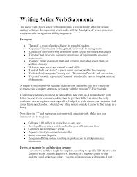 List Of Good Resume Verbs Sidemcicek Com