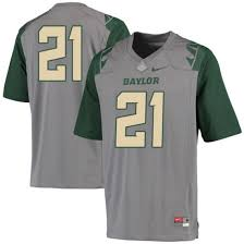 Youth Nuni Omot Baylor Bears Nike Game Gray Football College Jersey