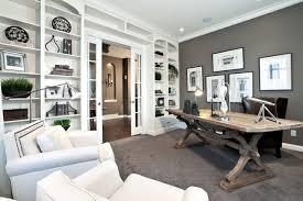home office photos. Example Of A Trendy Home Office Design In Calgary Photos