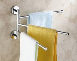 bath towel hanger. Wall Mounted Triple Swivel Towel Bar 5093 Bath Hanger