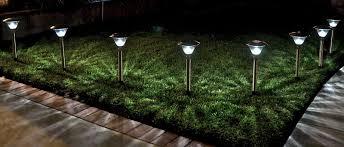 solar powered sierra path warm lights homebrite copper garden landscape