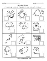 Phonetic quizzes as worksheets to print. Beginning Sounds Worksheets For Preschools