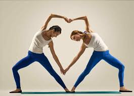 pain stress for easy yoga partner flexibility beginner stretches pain stress couple poses you couple easy