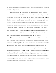english research paper the tell tale heart since the narrator 5