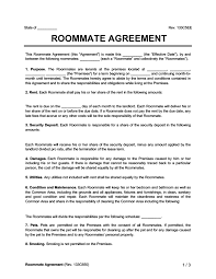 Notary rent agreement 11 month rent agreement format registration act 1908 why rent agreement for 11 months. Roommate Agreement Contract Create Download A Free Template