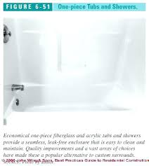 one piece tubs one piece tub surround figure 6 one piece tubs and showers c j 1