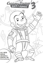 Curious George Coloring Pages For Free Download Jokingartcom