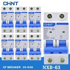CHINT Electric Circuit Breaker <b>2P</b> 6A/10A/16A/20A/<b>32A</b>/<b>40A</b>/<b>63A</b> ...