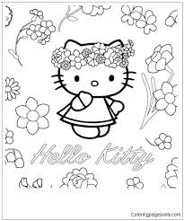 Color zebra birthday decorations party decoration supplies happy birthday balloons banner birthday party favors for kids or girls (pink). Hello Kitty Birthday Card Coloring Page Free Coloring Pages Online