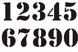 Number Stencil Font 9 Number Stencils Free Sample Example Format Download Free