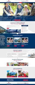 Tourism Web Design Inspiration Canadian Tourism Website 99designs Design Inspiration