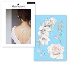 переводные тату Miami Tattoos White Roses
