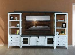 Antique White Rustic Entertainment Center  Rustic Entertainment Center O49