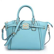 Cheap Michael Kors Pebbled Leather Large Blue Satchels Clearance actually  really like this blue color for Spring