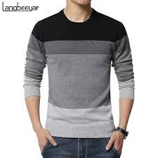 <b>2019 New Autumn</b> Fashion Brand Casual Sweater O Neck Striped ...