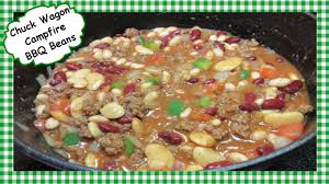 chuck wagon cfire bbq beans recipe how to make baked beefy beans you