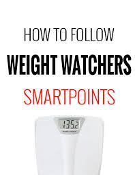 how to follow weight watchers smartpoints program