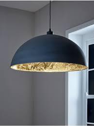 oversized grey gold domed pendant