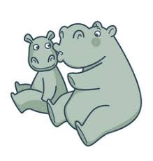 <b>Fat Hippo</b> Animal Vector Images (over 370)