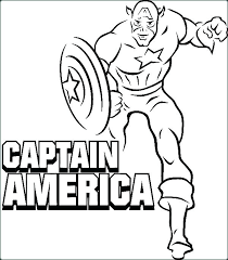 Coloring Pages Captain America Captain Coloring Pages Printable