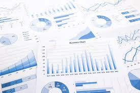 Business Charts And Graphs Blue Business Charts Graphs Reports And Paperwork For Financial