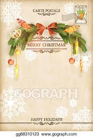 vintage holiday background. Unique Vintage Christmas Vintage Holiday Vector Postcard Throughout Background E