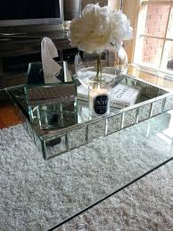 mirrored coffee table tray couch table tray round mirrored