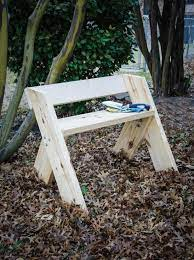 how to make an easy garden bench